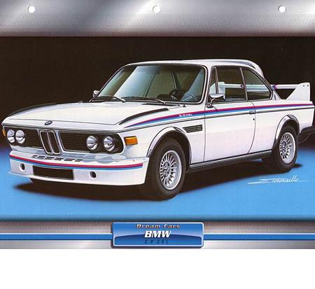 BMW CSL Sammelkarte