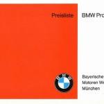 Preisliste BMW Programm VIII-69_01