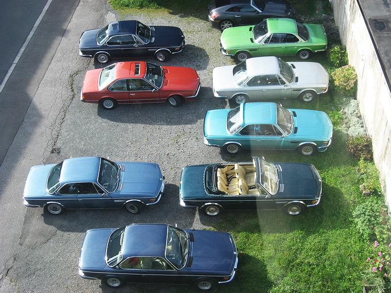 E9 auf Parkplatz