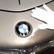 Handschuh auf Motorhaube