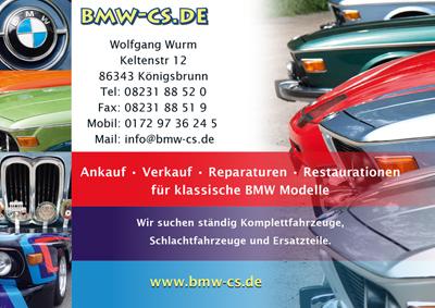 Werbeanzeige BMW CS in Königsbrunn